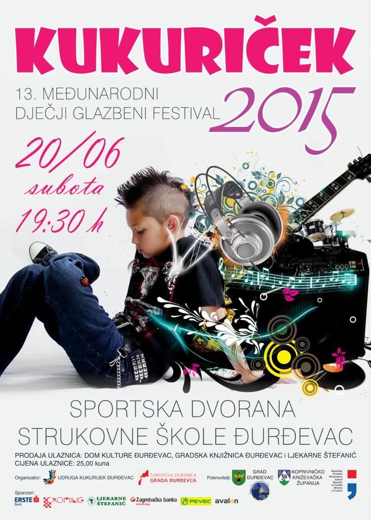 Program Dječje glazbene igre Kukurijek 2015, Đurđevac